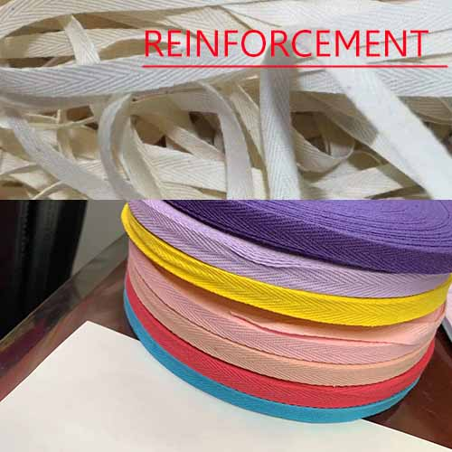 Good quality cotton shoes strap reinforcement strong