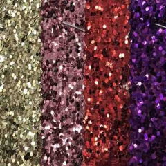 shiny synthetic red purple iridescent faux chunky material artificial glitter pvc pu rexine leather fabric