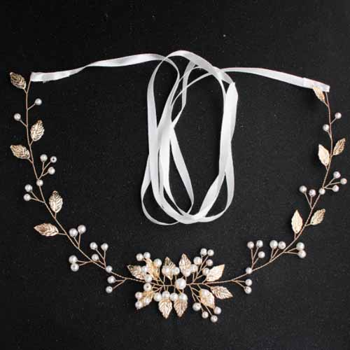 European and American bridal accessories, all kinds of women's waist  chains, metal leaves, diamond belts, wedding dresses, fashion show waist  accessor