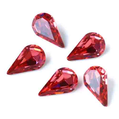 red water droplet shape direct sales good quality all size and many colors rhinestone