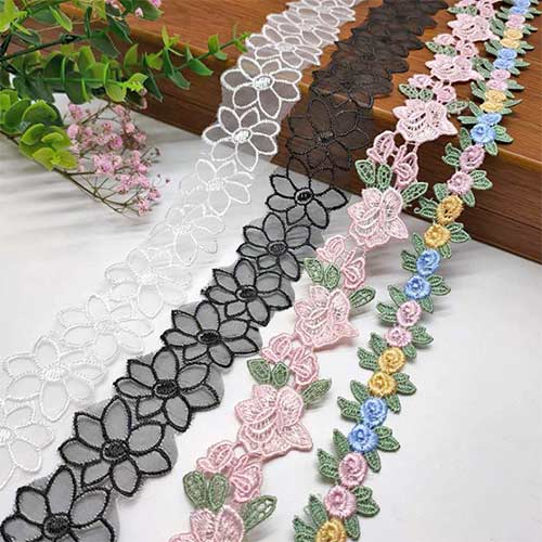 embroidery lace ornament for shoes, garments and handbags