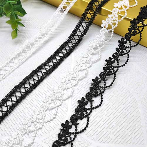 polyester lace ornament for shoes, garments and handbags