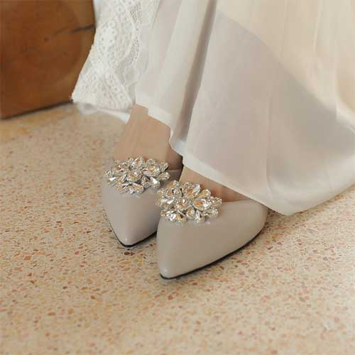 Luxurious shoe clip with rhinestone for ladies