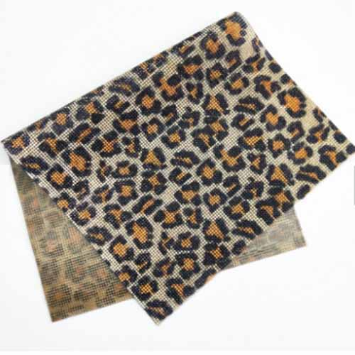 Leopard print cyrstal diamond resin rhinestone adhesive embroidered patch