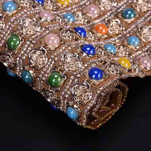 Wholesale Hotfix Rhinestone Sheet Fashion Rhinestone Mesh Trimming Bag Upper Shoe Accessories