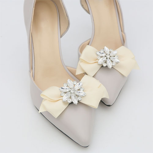 bowknot with crystal stone clip for ladies shoes
