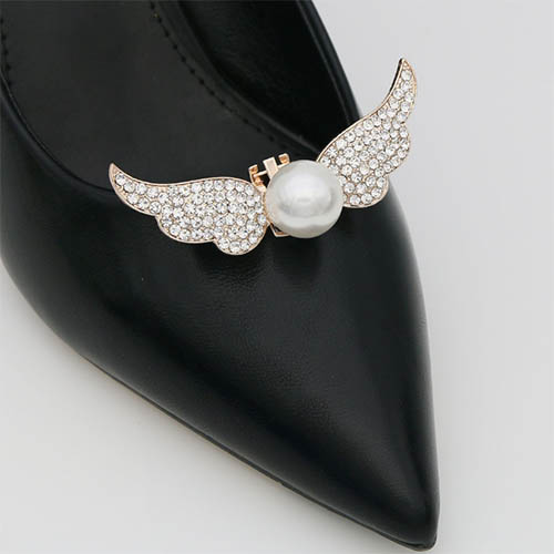 shoe clip with big pearl for ladies shoes