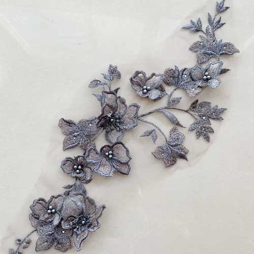 New design of lace applique flowers for fashion dress