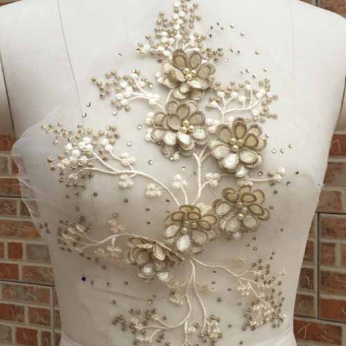 Lace flower new design for fashion dress flower floral accessories