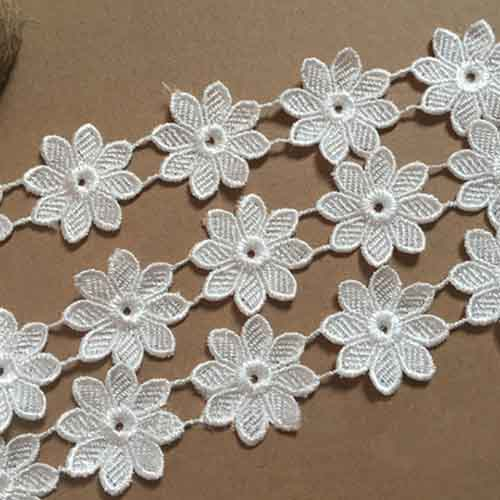 Lace flower ribbon for fashion dress flower floral accessories