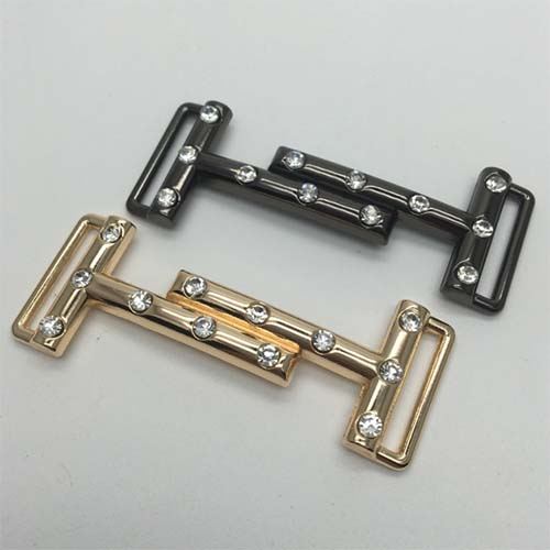 zinc buckle various color with crystal stone