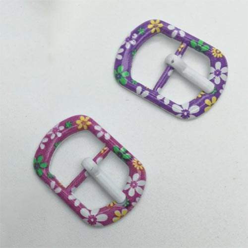 floral-patterned buckle for girls shoes