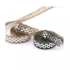Side round strass and rectangle rhinestone ornament for shoes and bags