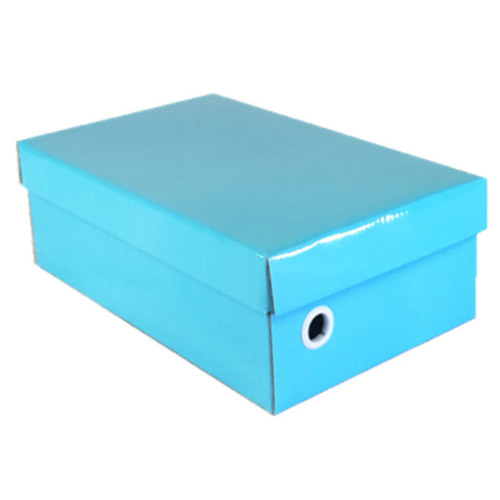 Customizable color shoe boxes with a hole