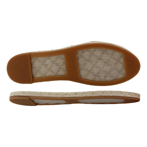 Non-slip and wear resistant hemp sole