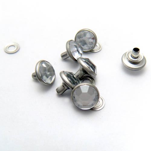 Nail rivet with good quality stone for shoes